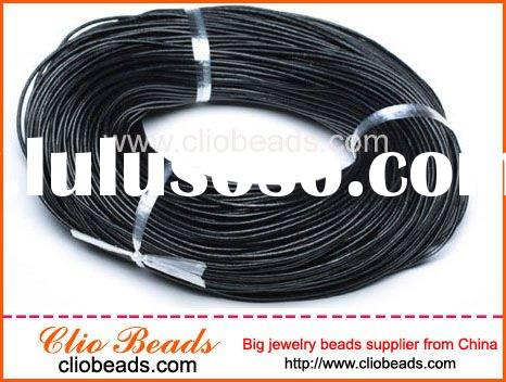 Black Round Leather Cord for Fashion Jewlery