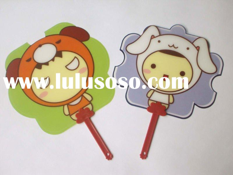 Cartoon plastic hand fan