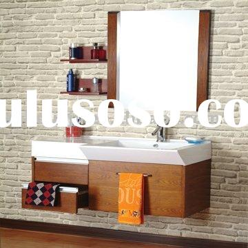 Classic wooden cabinet bathroom cabinet
