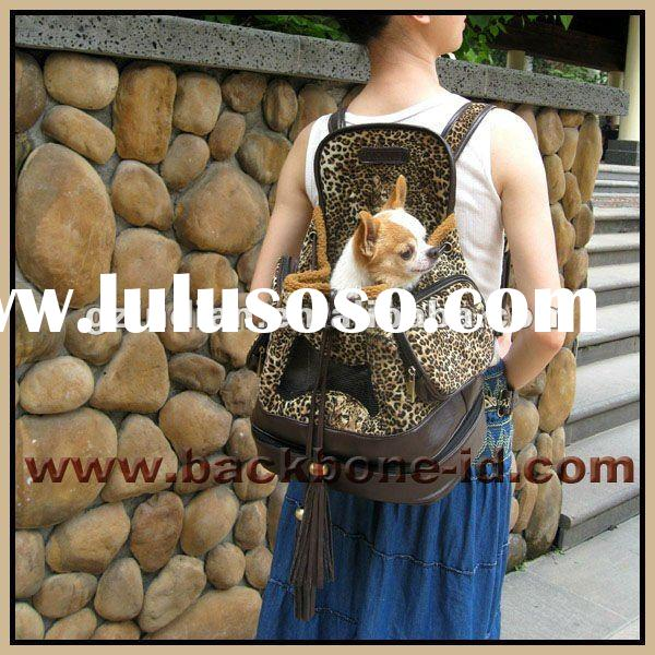 Corn mother -Leopard flocking backpack dog carrier