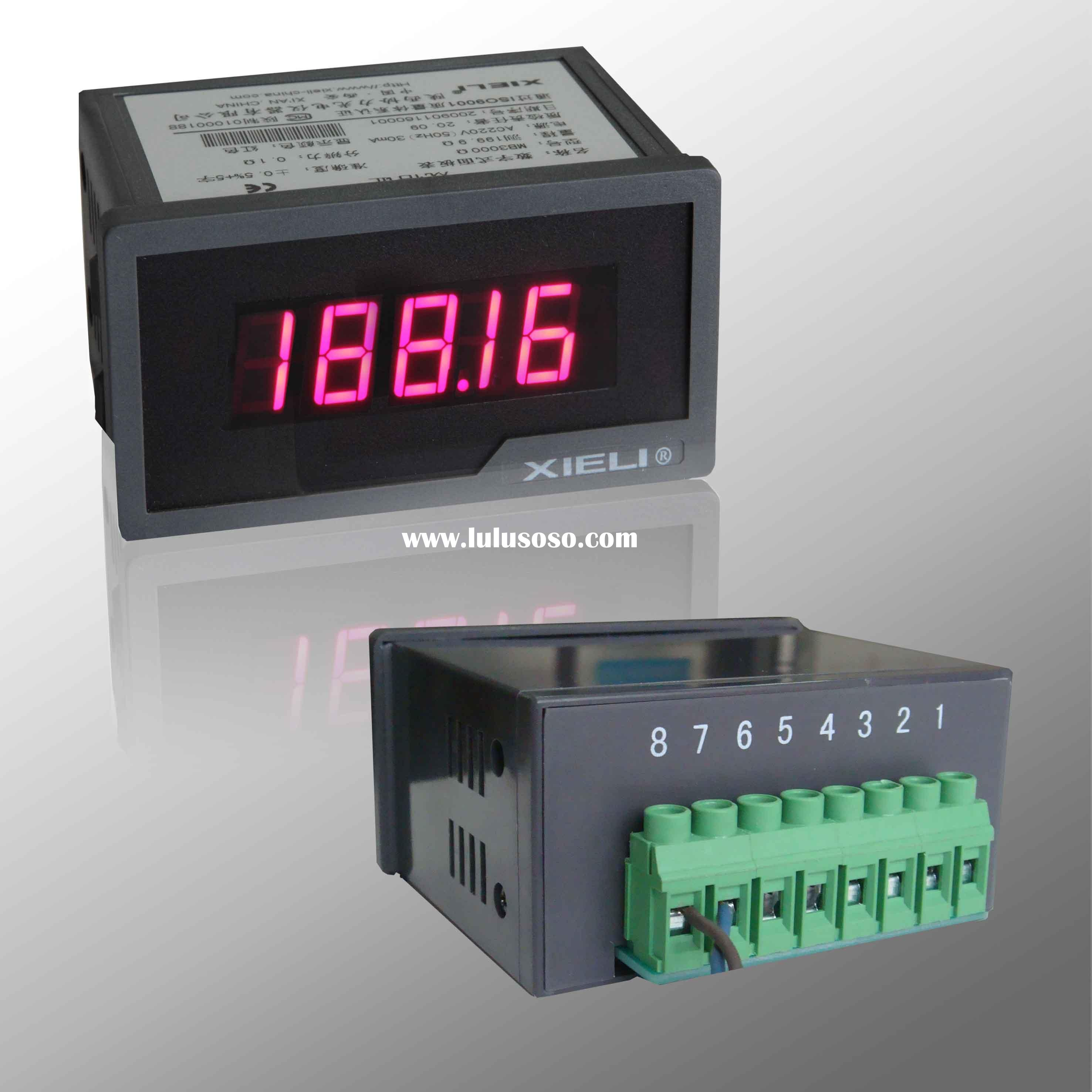 Digital panel meter can measuring AC/DC voltage or current (high & low limit setable)