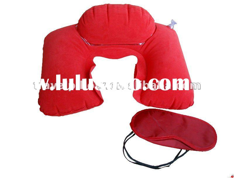 Double-layer Travel pillow with eye mask