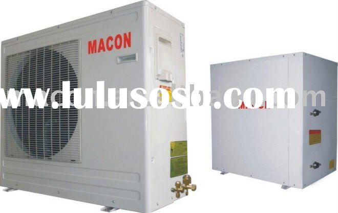 EVI low temperature -30 degree split type air source heat pump with electric heater