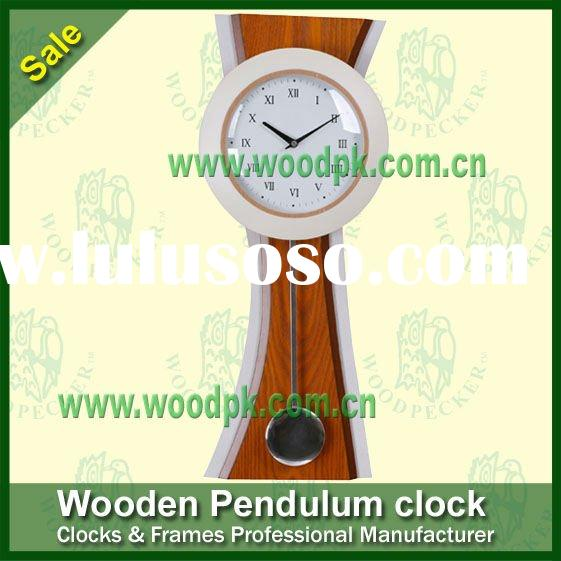 Fashion quartz teak wooden pendulum clock