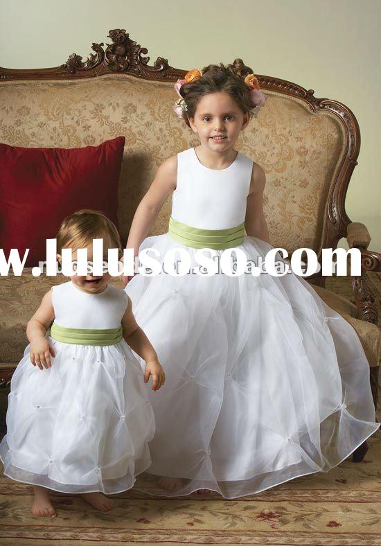 Free Shipping Floor Length Flower Girl Dresses Flower Girls' Dresses for Flower Girls