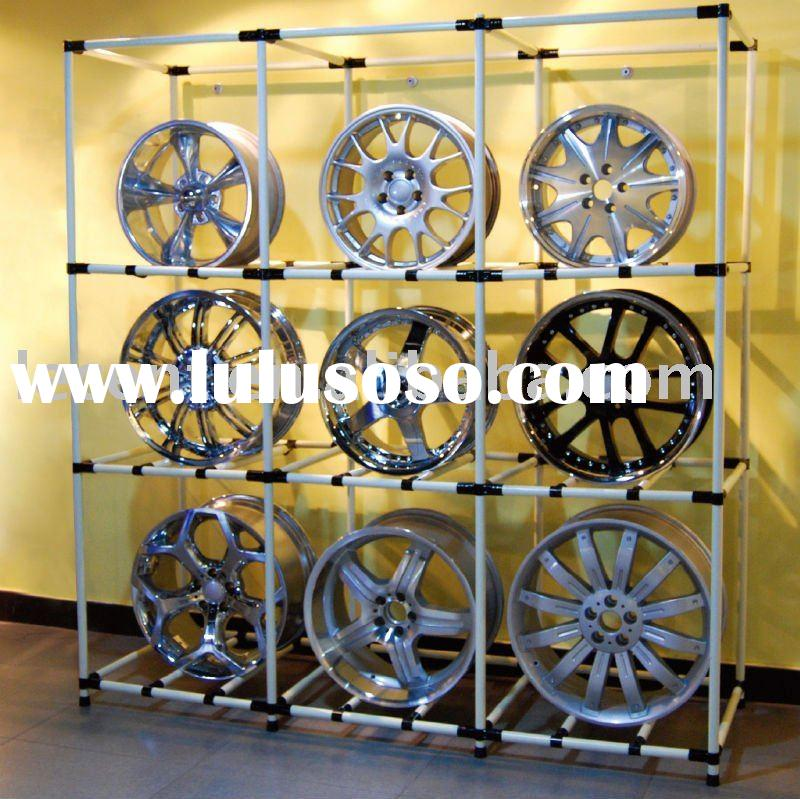 Freestanding LEGO like design Wheel Rim Display Rack