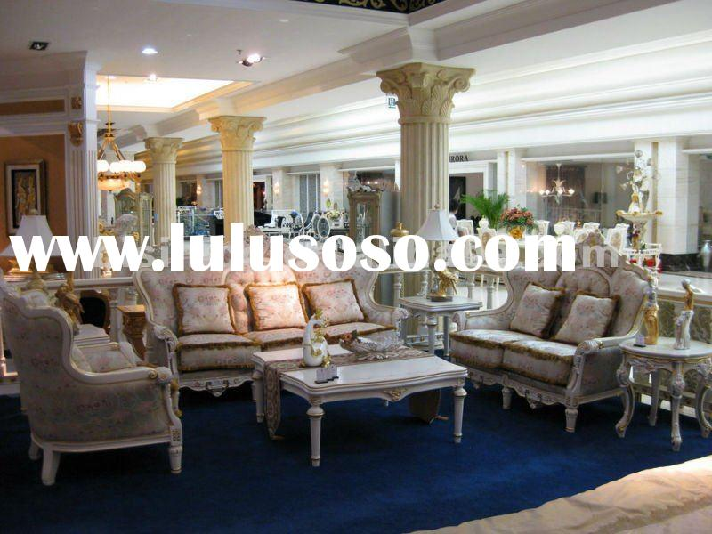 French living room furniture,european sofa set,wood carving sofa set(B50711)