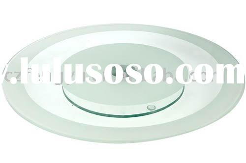 Glass Lazy Susan Turntable With Screen Printing Design