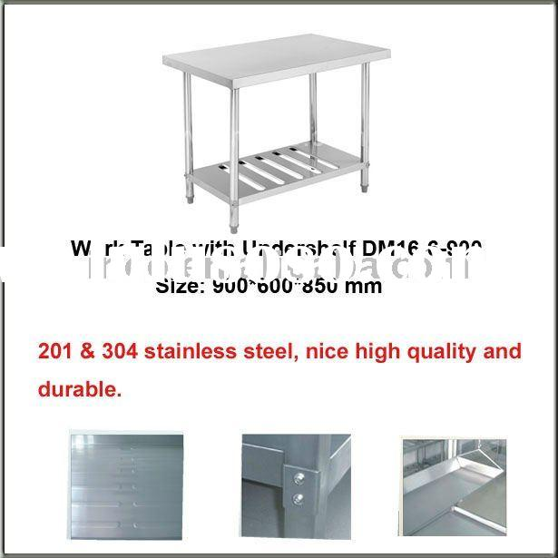 Guangzhou INEO Kitchen Stainless Steel Working Table/ Work Table/Work Bench with Under Shelf