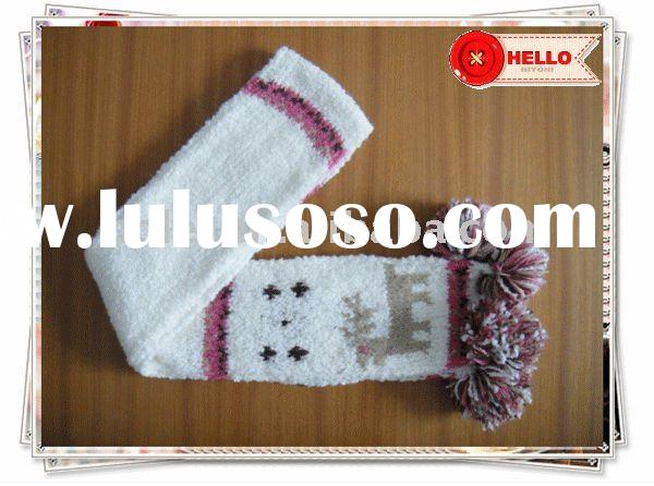 Kids cute animal pattern winter knit scarf Cute Scarves For Kids