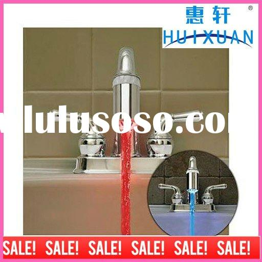 LED temperature changing color faucet lamp