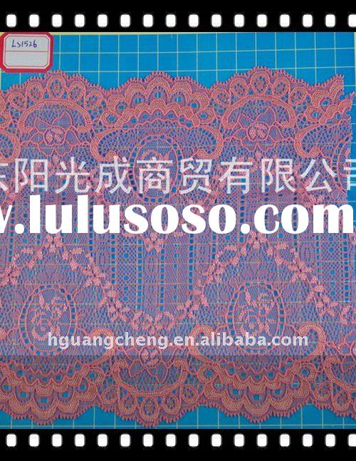 LS1526/Fashionable Nylon Elastic Lace Fabric for Underwear