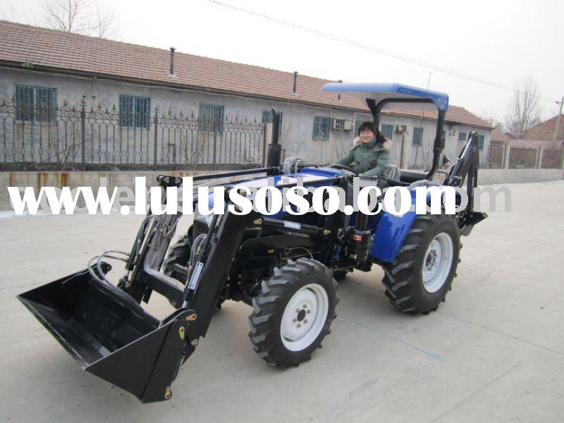LZ404/LZ454/LZ505 middle HP 4x4 tractor with Front end loader and Backhoe