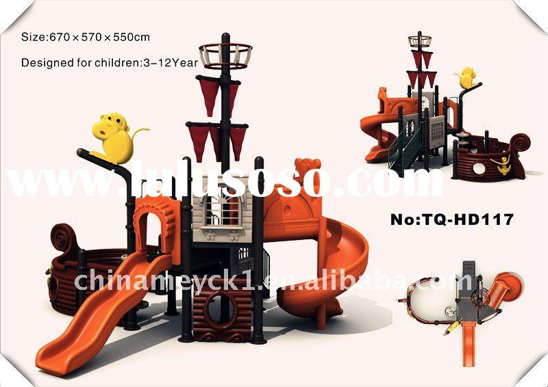 Lovely kid's outdoor playground equipment TQ- HD117 kids train outdoor playground