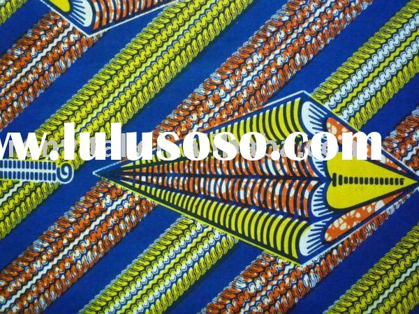 Low price guaranteed quality veritable 100% cotton african textiles real wax block print cloth 10025
