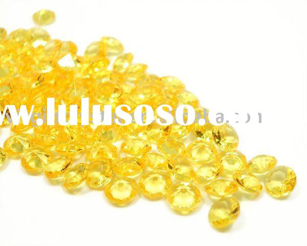 Mango Yellow Diamond Confetti Wedding Party Table Scatters
