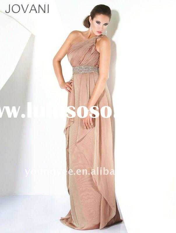 New grant one shoulder shawls for engagement evening dress bridesmaid gowns(ED10696)