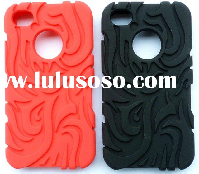 "New pattern""Toten"" for 4GS iphone silicone case"