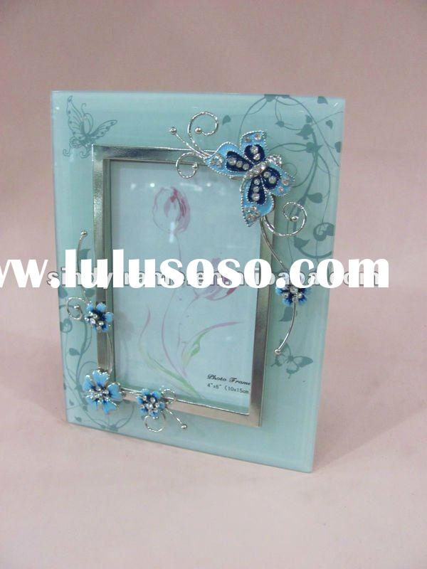 Newest 5x7 metal glass picture photo frame for home decoration