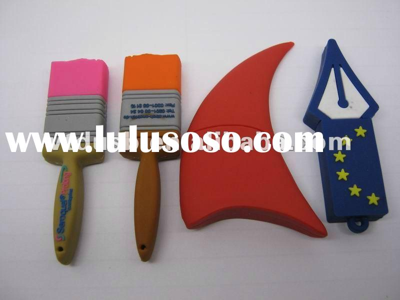 OEM customized brush shape usb flash drive, Croissant shape usb flash drive