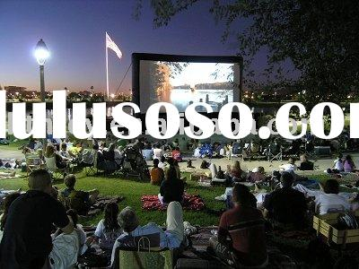 Outdoor city attractive inflatable movie screen