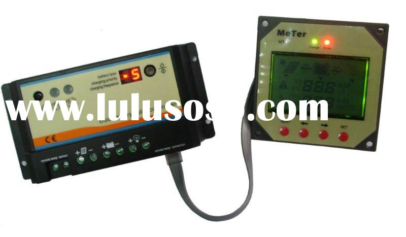 PWM Solar charger controller with LCD display remote meter for RVs, Caravans, Motor Home,Golf car an