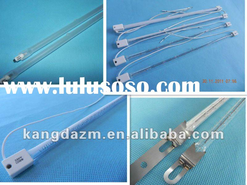 Quartz infrared heating tube and halogen heating element