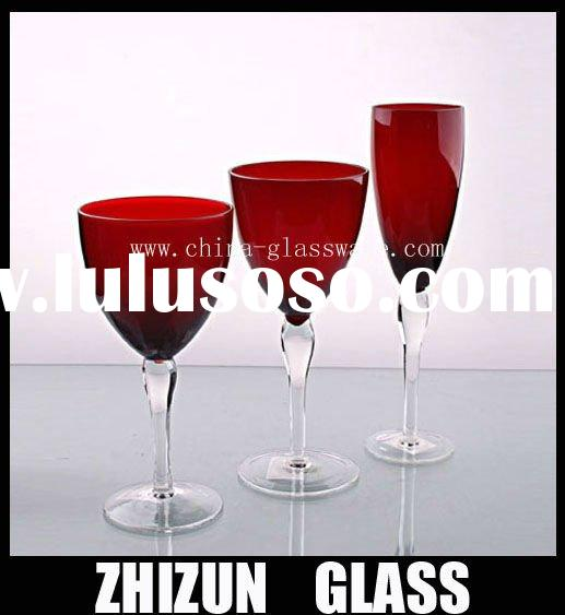 S00010 colored drinking glass sets,colored glass dinnerware sets,colored glass dinner set