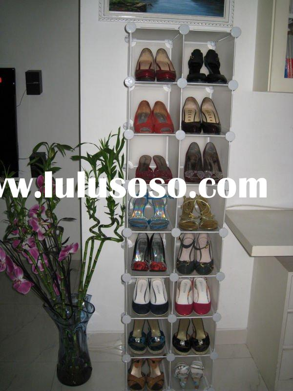Sell new plastic shoe racks,dismountable shoe cabinet,folding shoe shelf
