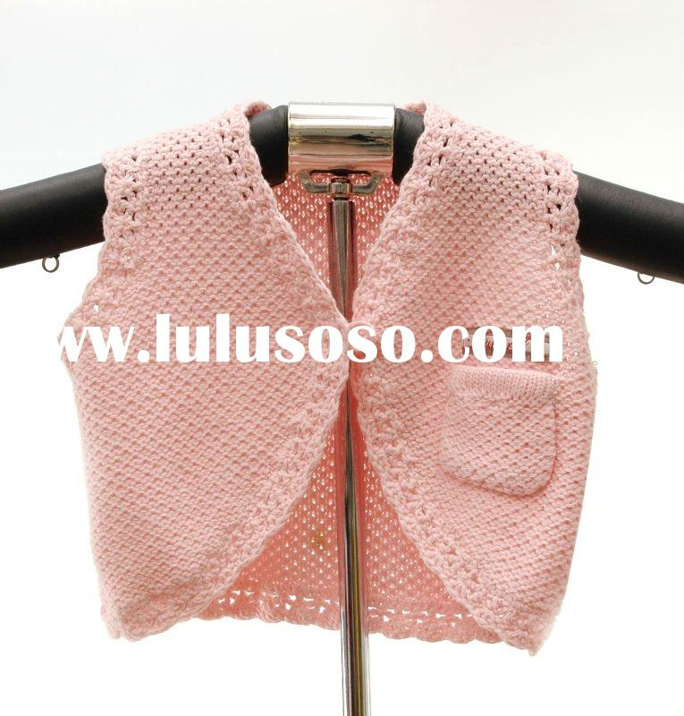 Sleeveless cardigan sweater for 0-3 months baby girls