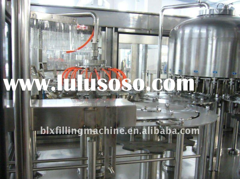 Small capacity bottle water 3-in-1 machine/rinsing filling capping monbloc
