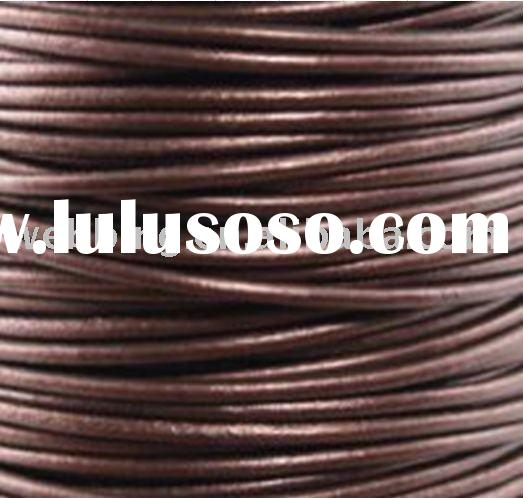 Smooth Round Leather Cord