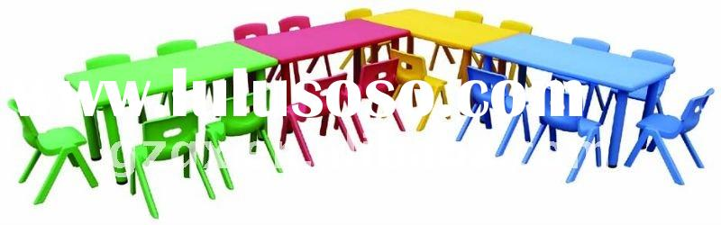Square kids folding table and chair QX-B7101