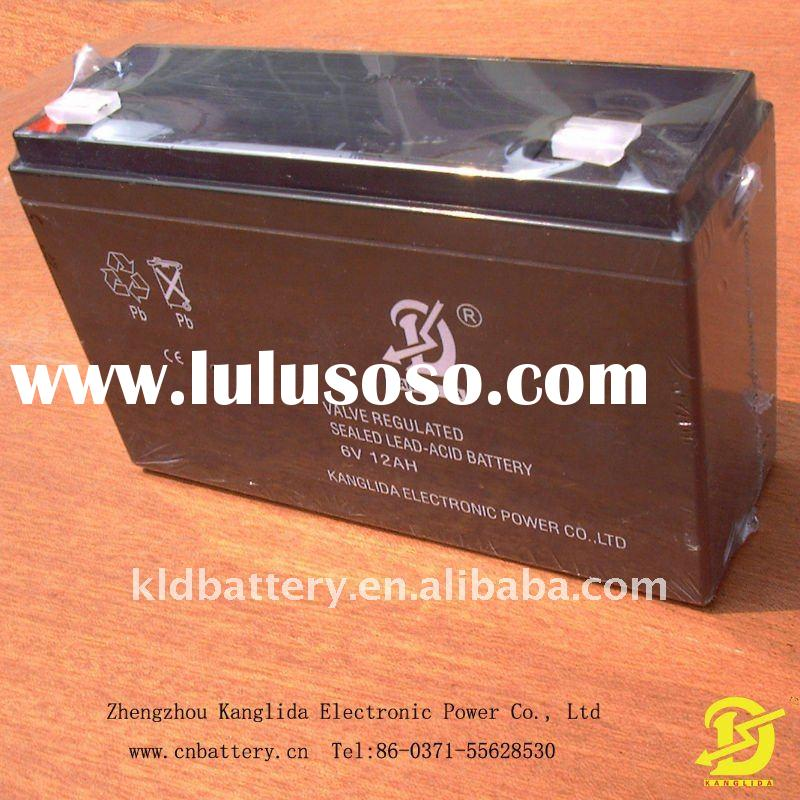 The super sealed lead acid rechargeable battery 6v12h