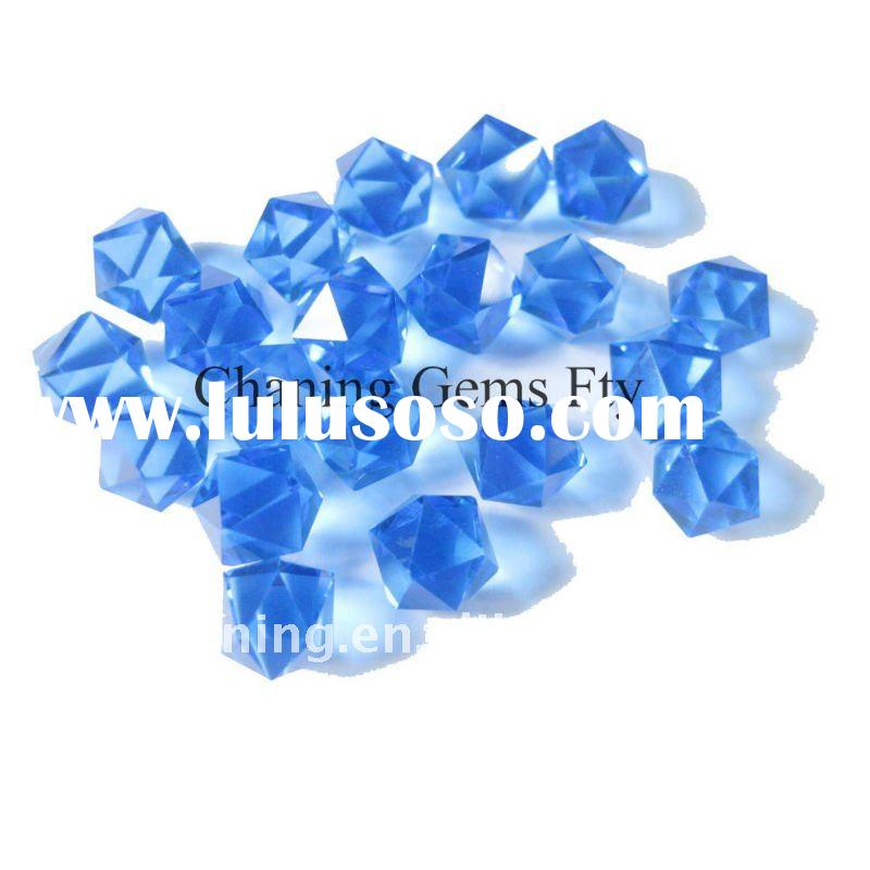 Top quality loose stone hydrothermal blue quartz for jewelry
