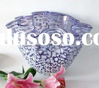VIOLET GLASS VASE WITH WHITE STONE/GLASS VASE