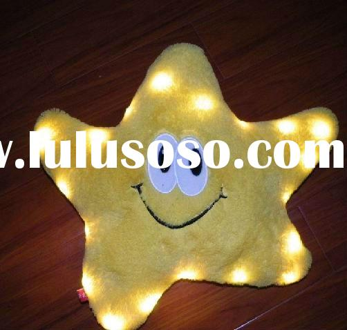 Valentine Souvenirs Paw Plush Toy for Christmas and Halloween Promotion LED Light Pillows