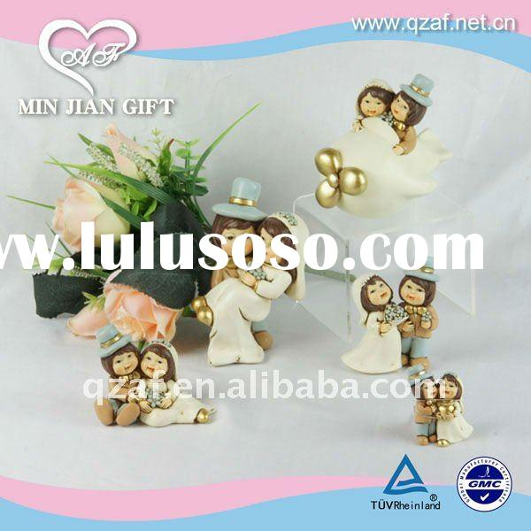 Wedding door gift bridegroom and bride firgurine for gift