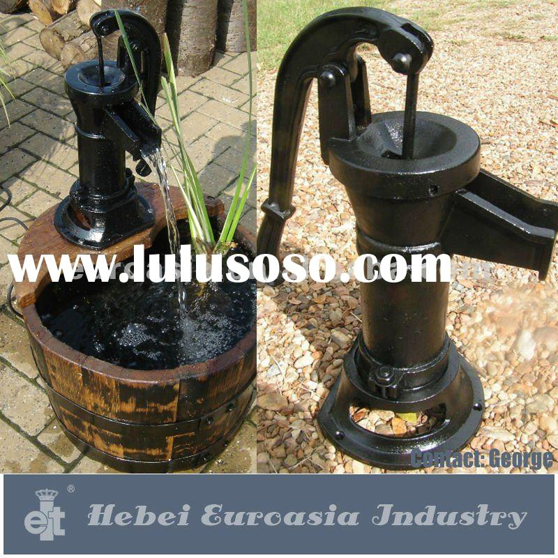 Well Water Black Hand Pump Cast Iron GARDEN