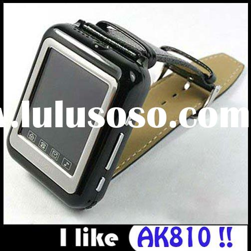 Wholesale HOT AK810 Tri Band Cheapest Bluetooth Mp3 Mp4 Touch Screen Hand Watch Mobile Phone