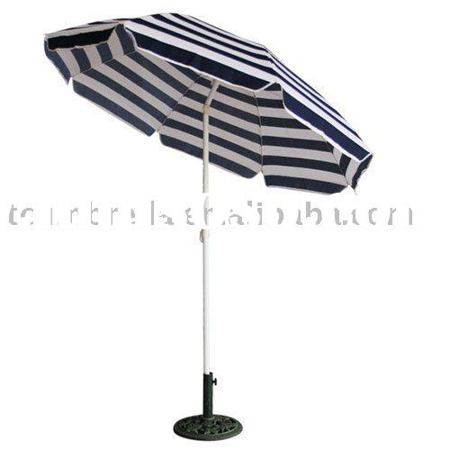 ZEBRA STRIPS OUTDOOR BEACH UMBRELLA WITH TILT