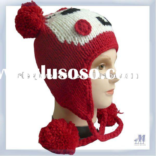 acrylic material animal hat knitting patterns