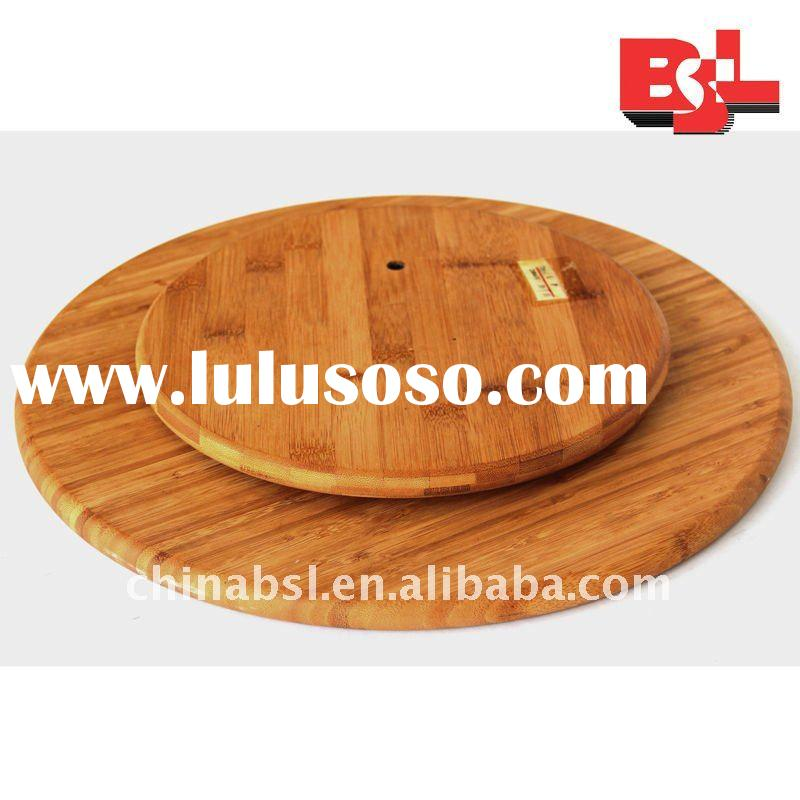wooden lazy susan turntable