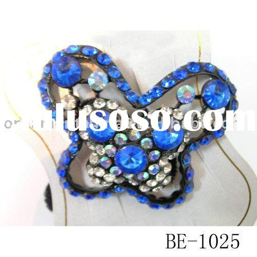 butterfly hairbands/acryl hair ornaments/fashion elastic hair bands/ponytail holder(BE-1025)