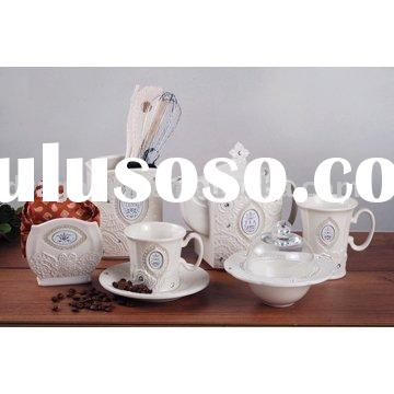 ceramic tableware,ceramic dinnerware,tea set,ceramic cup,porcelain mug,cup and saucer,napkin holder,
