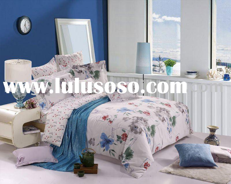 cotton satin printed bedding sets home textile/home bedding/bed sets