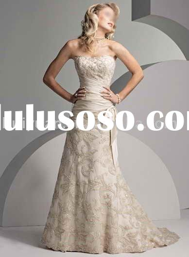 cream wedding party dress for men
