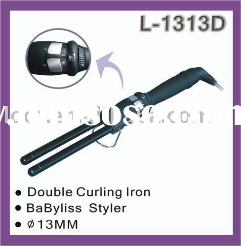 double barrel hair curler