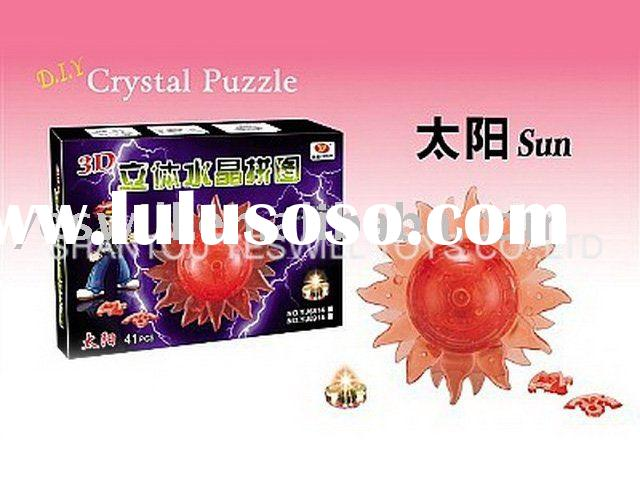 educational toy,3D crystal puzzle flash sun , DIY toys