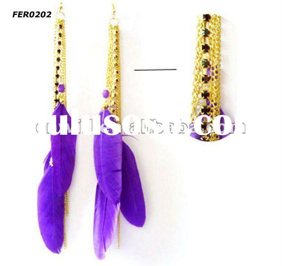 golden earring designs for women feather earrings for women